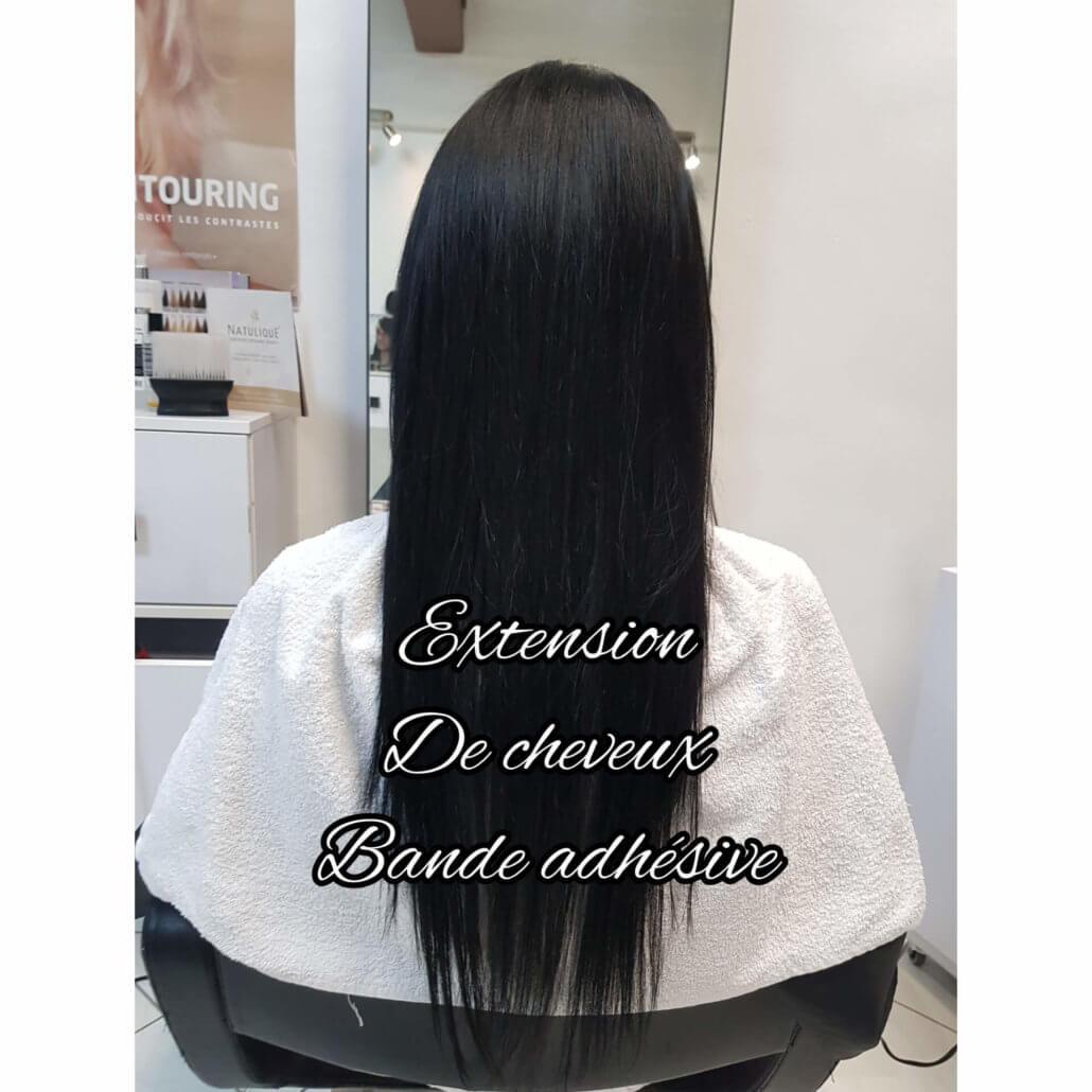 Extension de cheveux bande adhésive